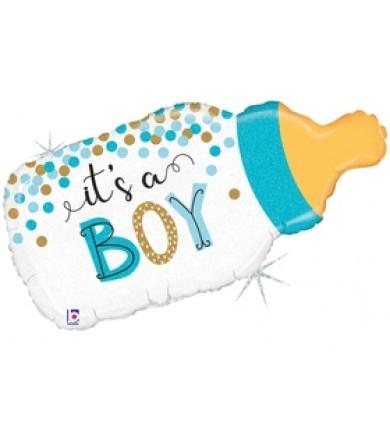 "25136P- Confetti Baby Bottle Boy (29"")"